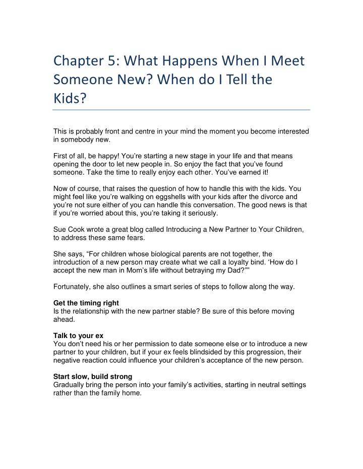 Chapter 5: What Happens When I Meet