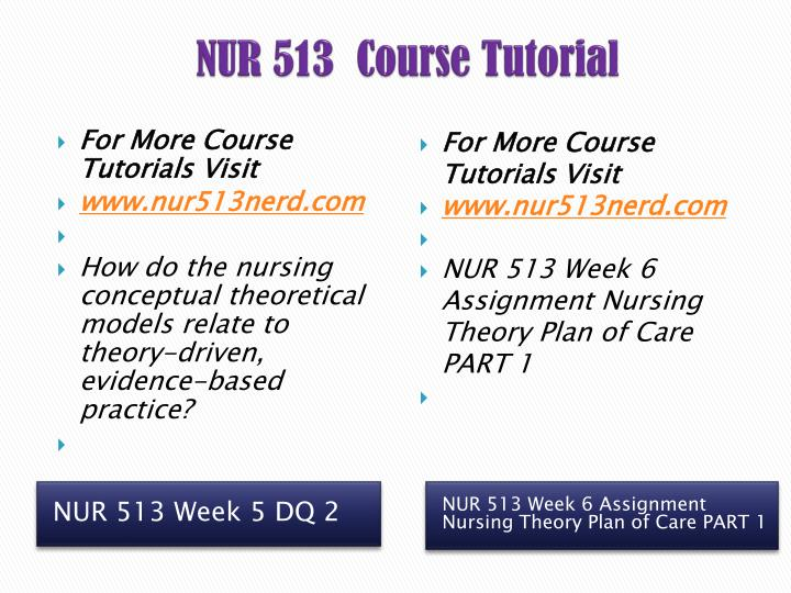 NUR 513  Course Tutorial