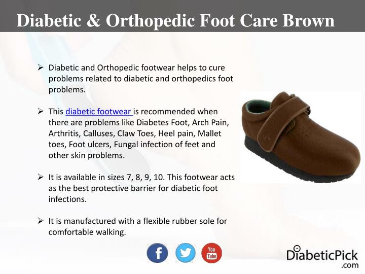 Diabetic & Orthopedic Foot Care Brown