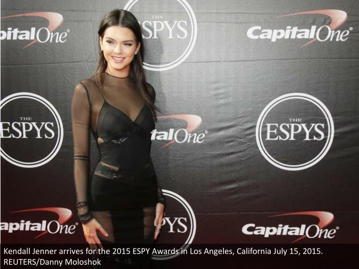 Kendall Jenner arrives for the 2015 ESPY Awards in Los Angeles, California July 15, 2015. REUTERS/Danny Moloshok