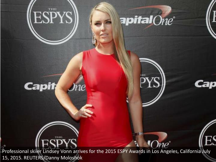 Professional skiier Lindsey Vonn arrives for the 2015 ESPY Awards in Los Angeles, California July 15, 2015. REUTERS/Danny Moloshok