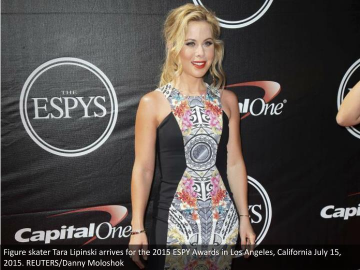 Figure skater Tara Lipinski arrives for the 2015 ESPY Awards in Los Angeles, California July 15, 2015. REUTERS/Danny Moloshok