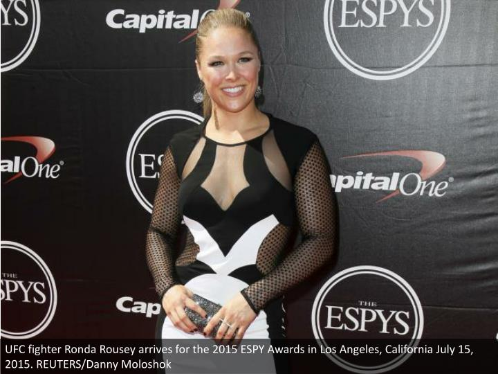 UFC fighter Ronda Rousey arrives for the 2015 ESPY Awards in Los Angeles, California July 15, 2015. REUTERS/Danny Moloshok