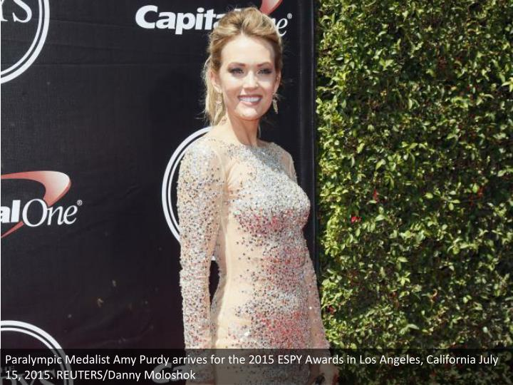 Paralympic Medalist Amy Purdy arrives for the 2015 ESPY Awards in Los Angeles, California July 15, 2015. REUTERS/Danny Moloshok