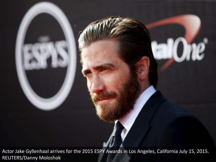 Actor Jake Gyllenhaal arrives for the 2015 ESPY Awards in Los Angeles, California July 15, 2015. REUTERS/Danny Moloshok