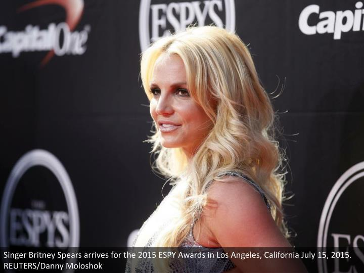 Singer Britney Spears arrives for the 2015 ESPY Awards in Los Angeles, California July 15, 2015. REUTERS/Danny Moloshok