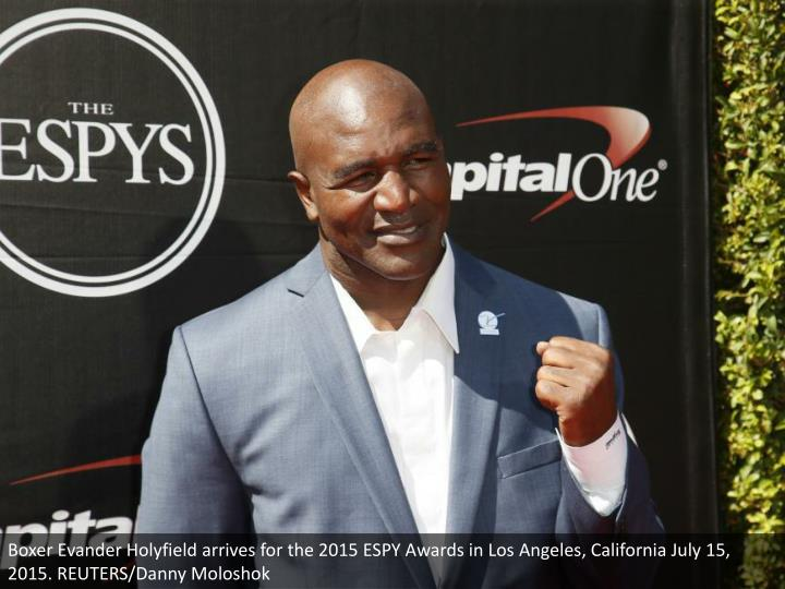 Boxer Evander Holyfield arrives for the 2015 ESPY Awards in Los Angeles, California July 15, 2015. REUTERS/Danny Moloshok