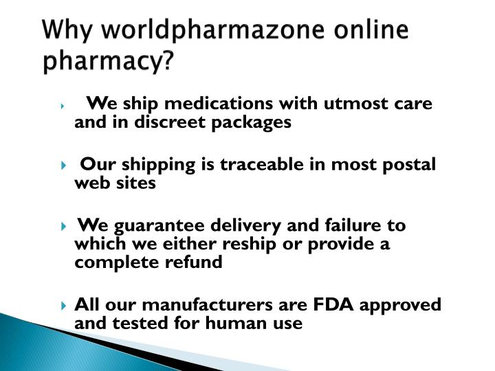 Why worldpharmazone online pharmacy?