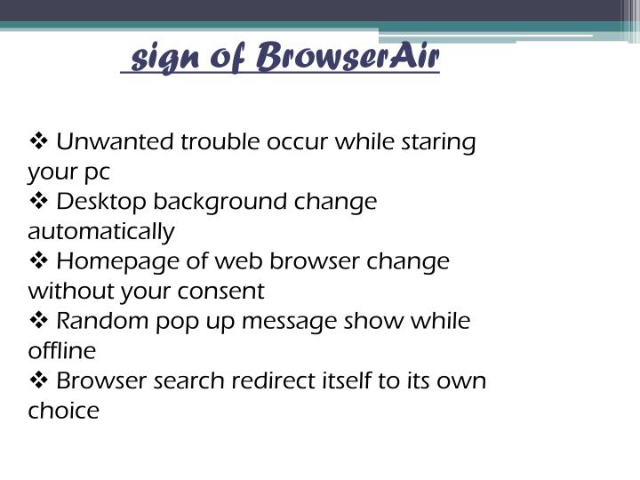 sign of BrowserAir