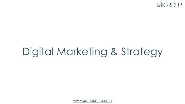 Digital Marketing & Strategy