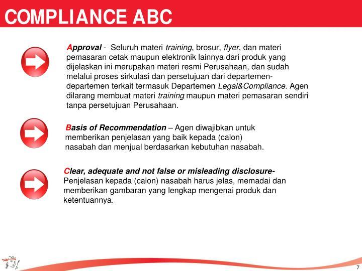 COMPLIANCE ABC