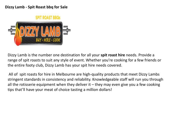 Dizzy Lamb -