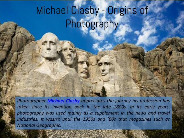 Michael clasby origins of photography