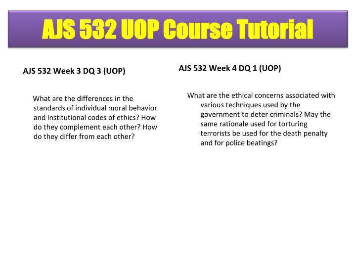 AJS 532 Week 3 DQ 3 (UOP)