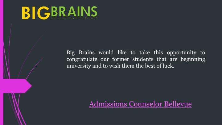Admissions Counselor Bellevue