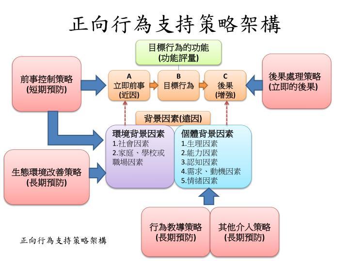 正向行為支持策略架構