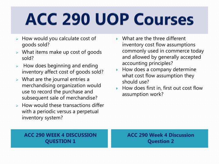ACC 290 UOP Courses
