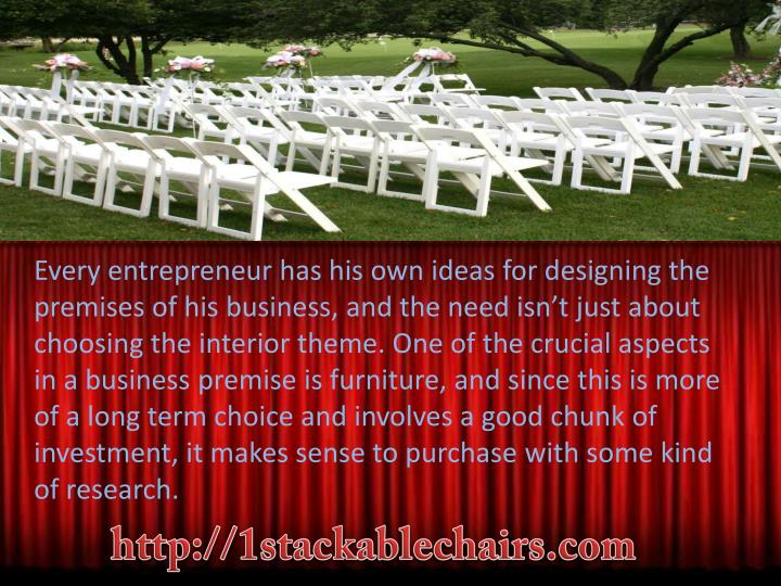 Every entrepreneur has his own ideas for designing the premises of his business, and the need isn't just about choosing the interior theme. One of the crucial aspects in a business premise is furniture, and since this is more of a long term choice and involves a good chunk of investment, it makes sense to purchase with some kind of research.