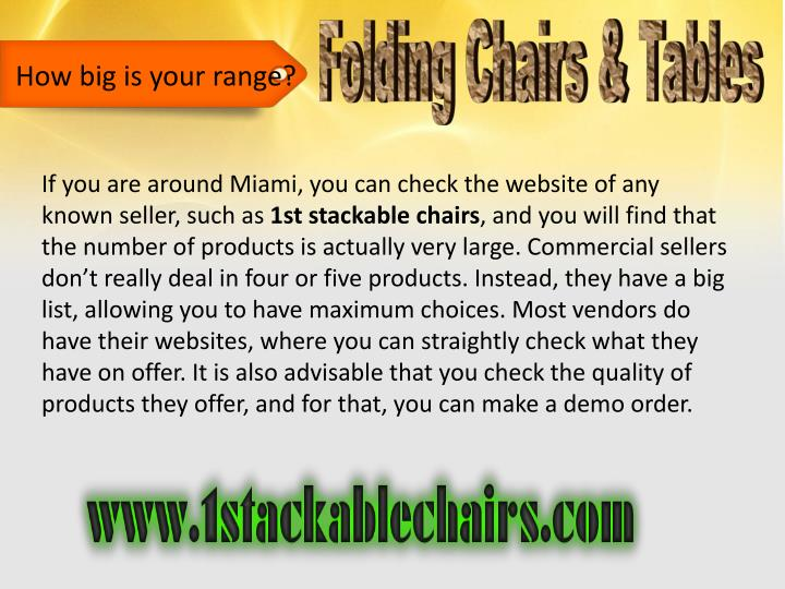 Folding Chairs & Tables
