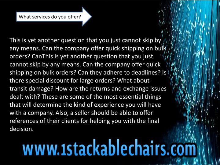 What services do you offer?