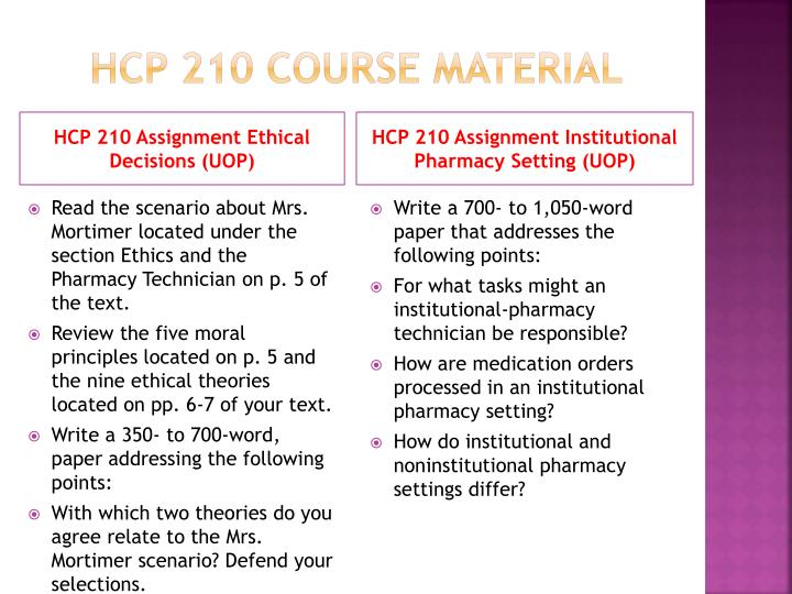 Hcp 210 course material
