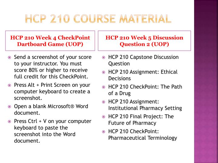 HCP 210 Course