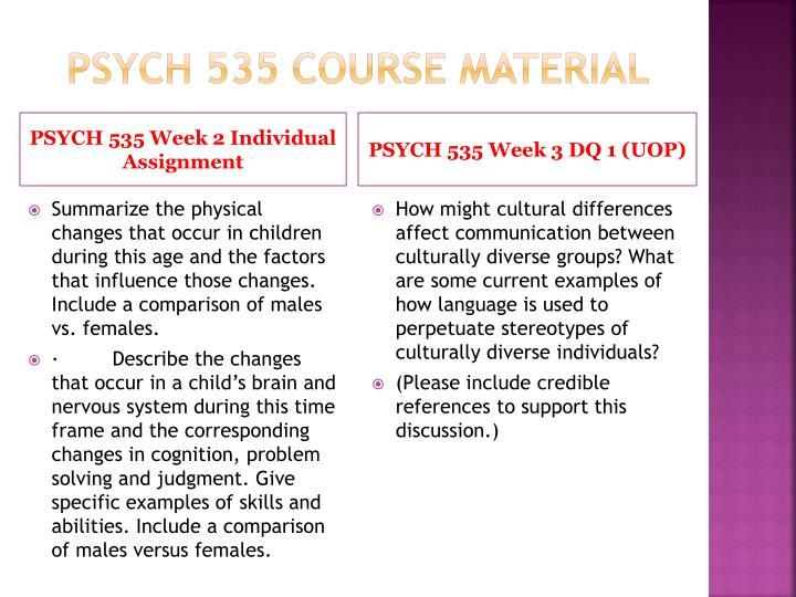 PSYCH 535