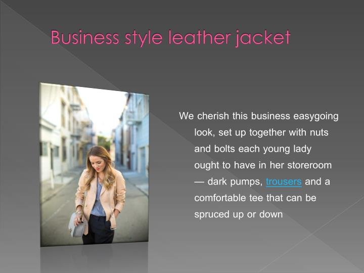 Business style leather jacket
