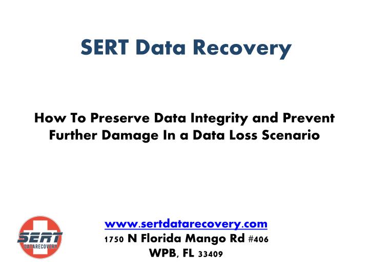How to preserve data integrity and prevent further damage in a data loss scenario