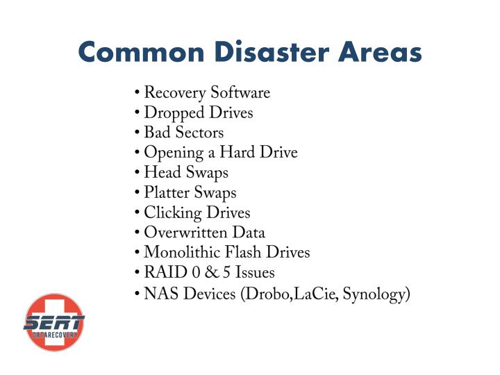 Common Disaster Areas