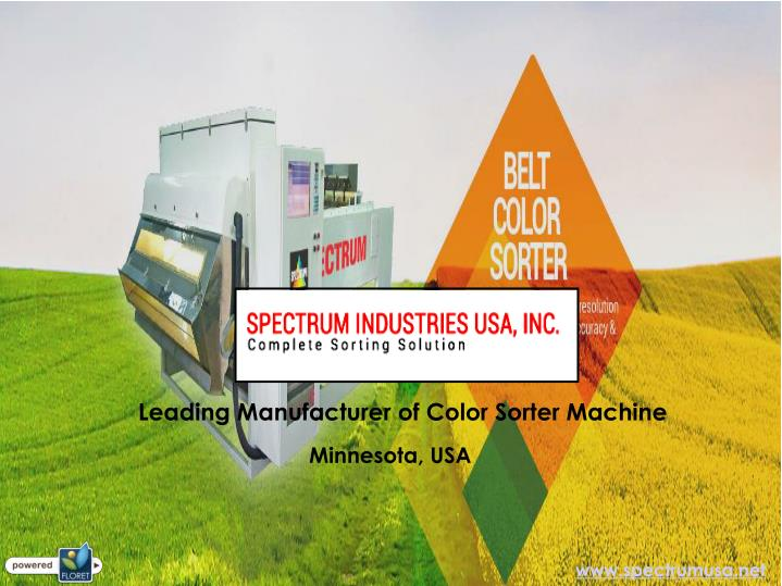 Leading Manufacturer of Color Sorter Machine