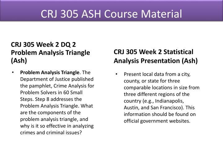 CRJ 305 ASH Course Material