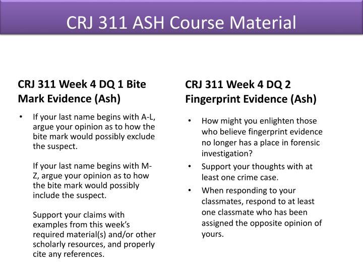 CRJ 311 ASH Course Material