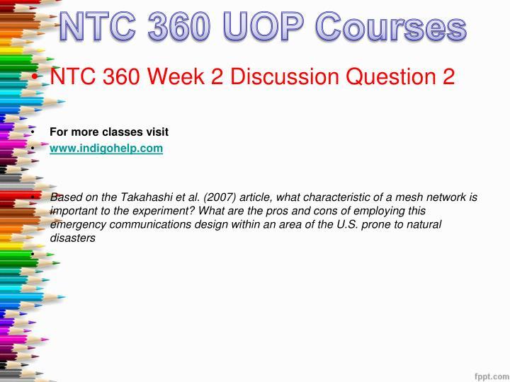 NTC 360 UOP