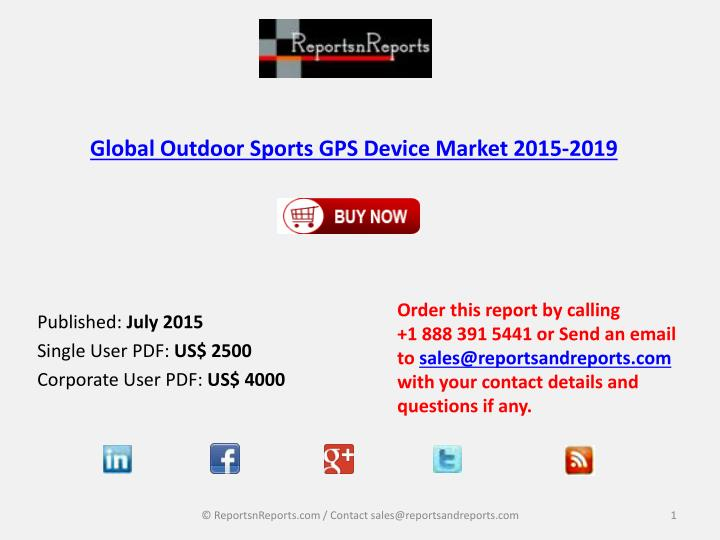 Global outdoor sports gps device market 2015 2019