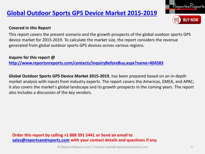 Global outdoor sports gps device market 2015 20192