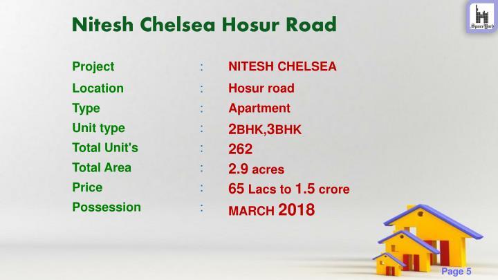 Nitesh Chelsea Hosur Road