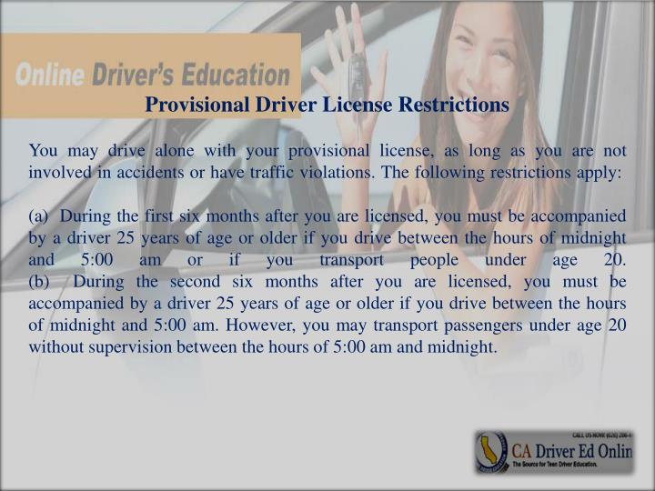 Provisional Driver License