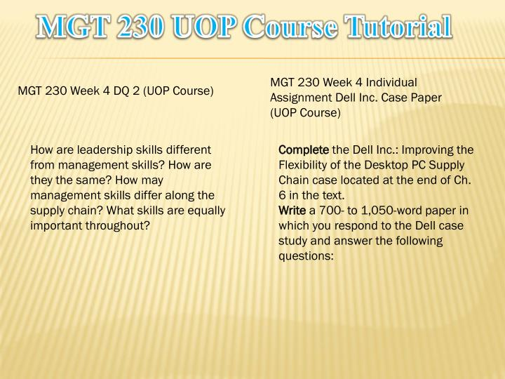 MGT 230 UOP