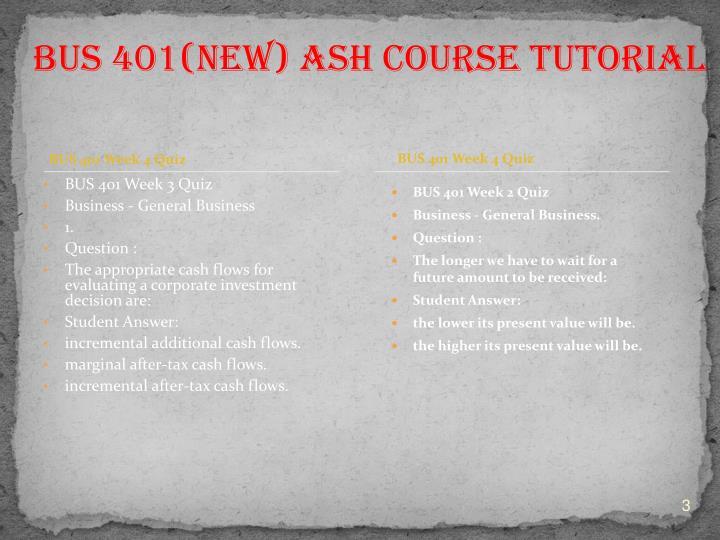 BUS 401 Week 4 Quiz
