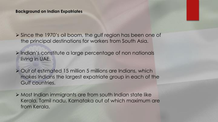 Background on Indian Expatriates
