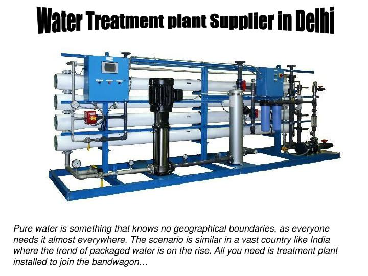 Water Treatment plant Supplier in Delhi
