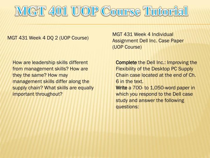 MGT 401 UOP