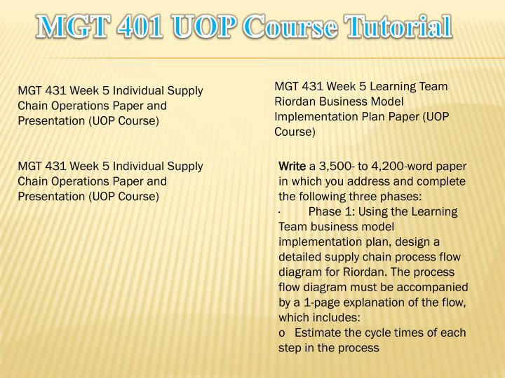 MGT 401 UOP