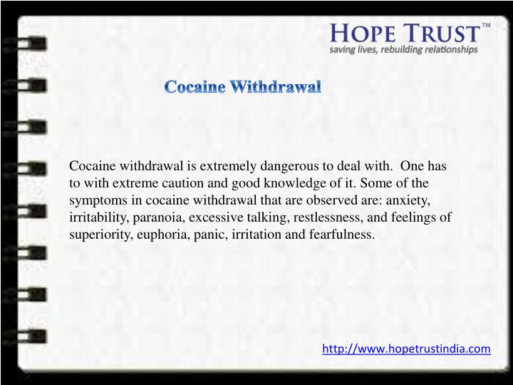Cocaine Withdrawal