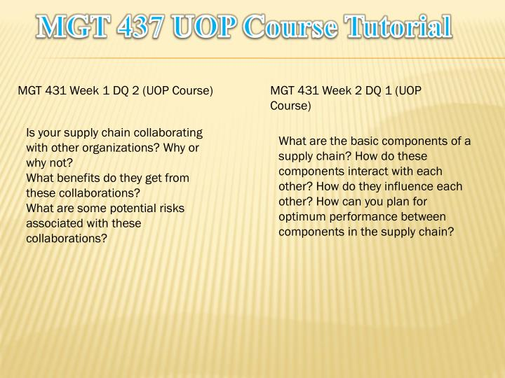 Mgt 437 uop course tutorial1