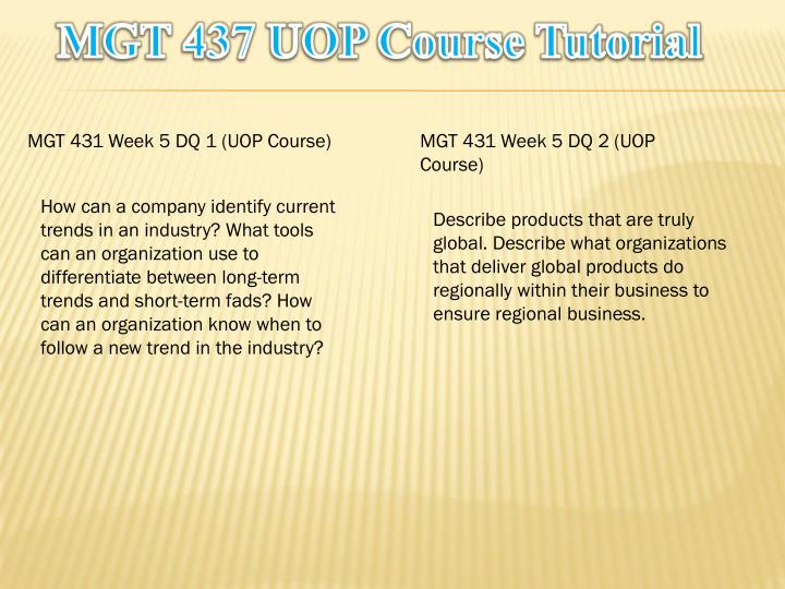 MGT 437 UOP