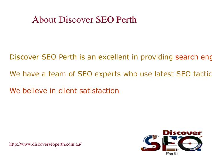 About discover seo perth