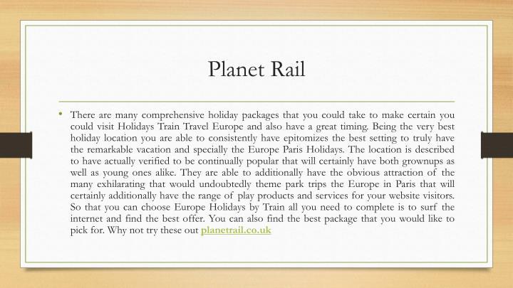 Planet Rail