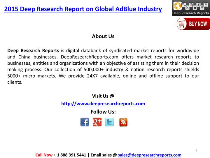 2015 Deep Research Report on Global AdBlue Industry